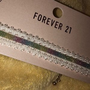 Forever 21 Rainbow Lace Choker
